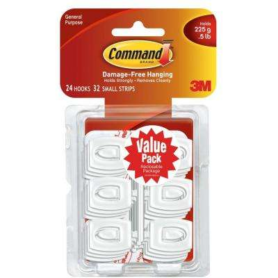 1/2 lbs. Mini White Hooks with Strips Value Pack
