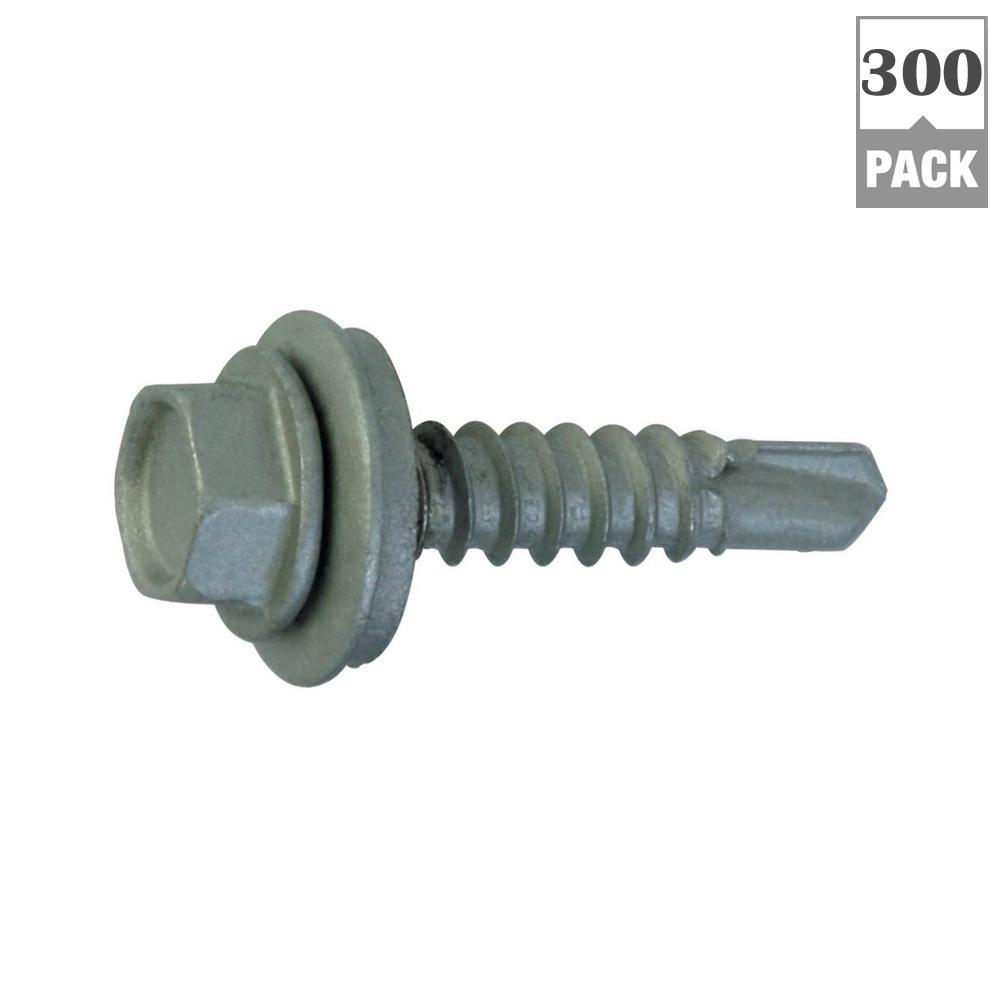 #12 x 1-1/2 in. Hex-Head Roofing Screws (300-Pack)