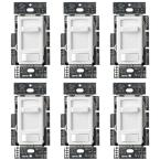 Skylark Contour LED+ Dimmer Switch for Dimmable LED, Halogen and Incandescent Bulbs Single-Pole or 3-Way, White (6-Pack)
