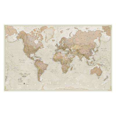 World Antique 1:20 Laminated Wall Map