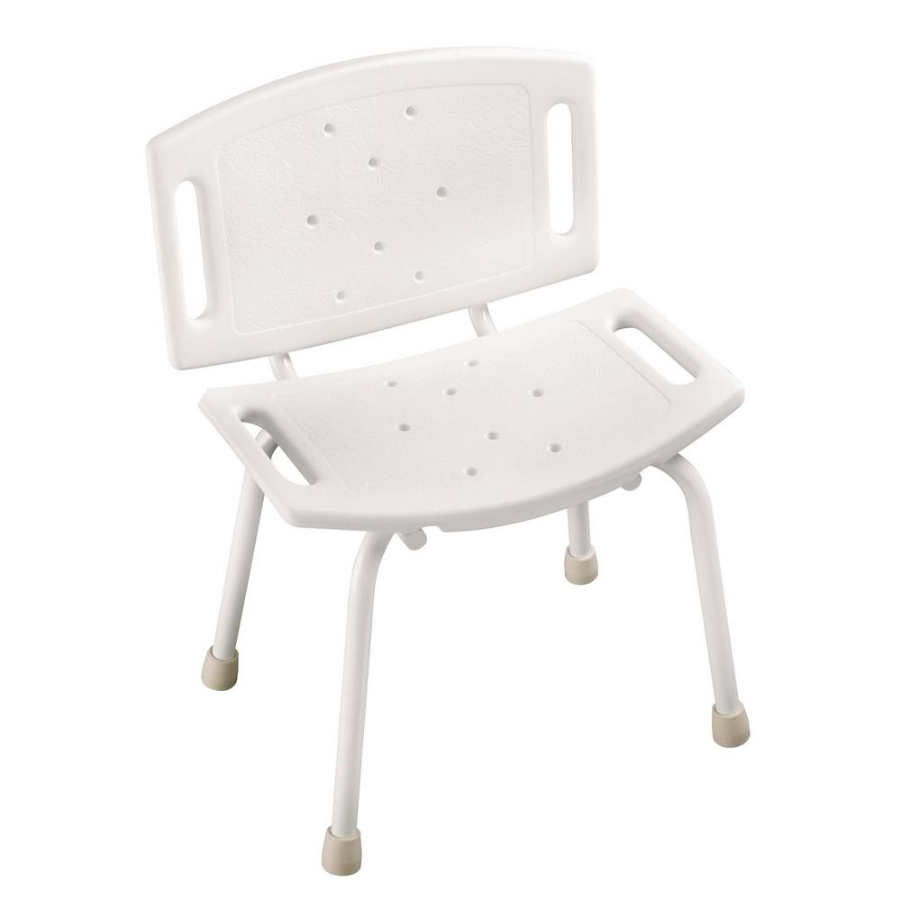 Delta 15-1/2 in. x 4-1/2 in. Bathtub and Shower Safety Chair in White