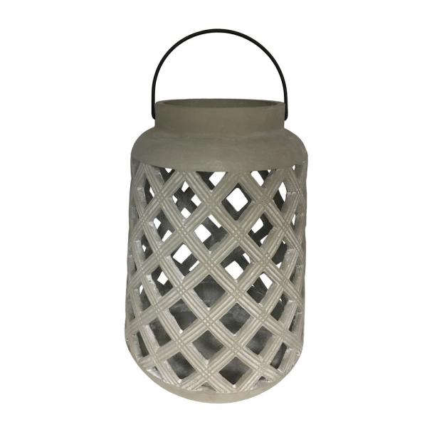 Gray Cylindrical Lantern