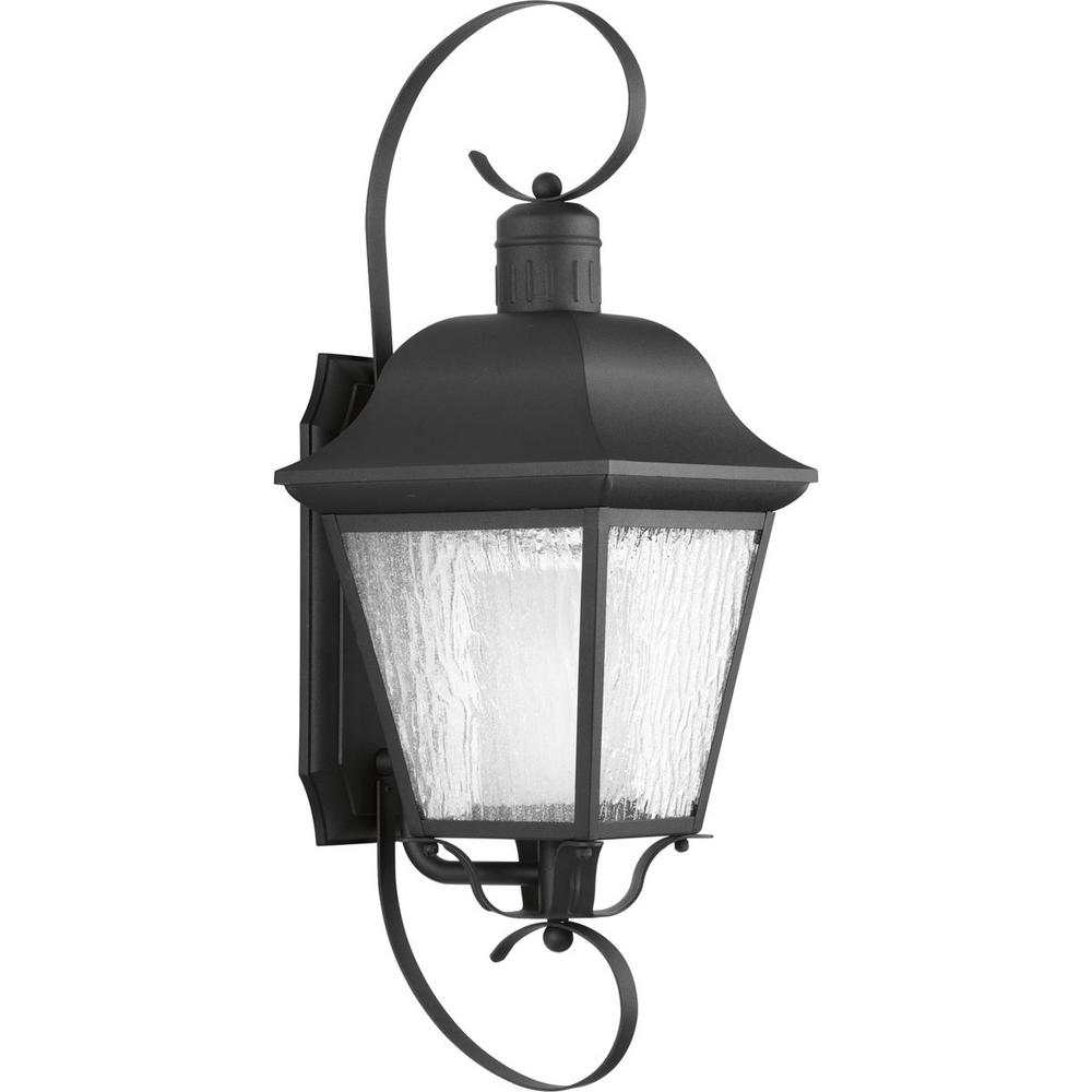 Progress Lighting Andover Collection 1 Light 26 25 In Outdoor Black Wall Lantern Sconce