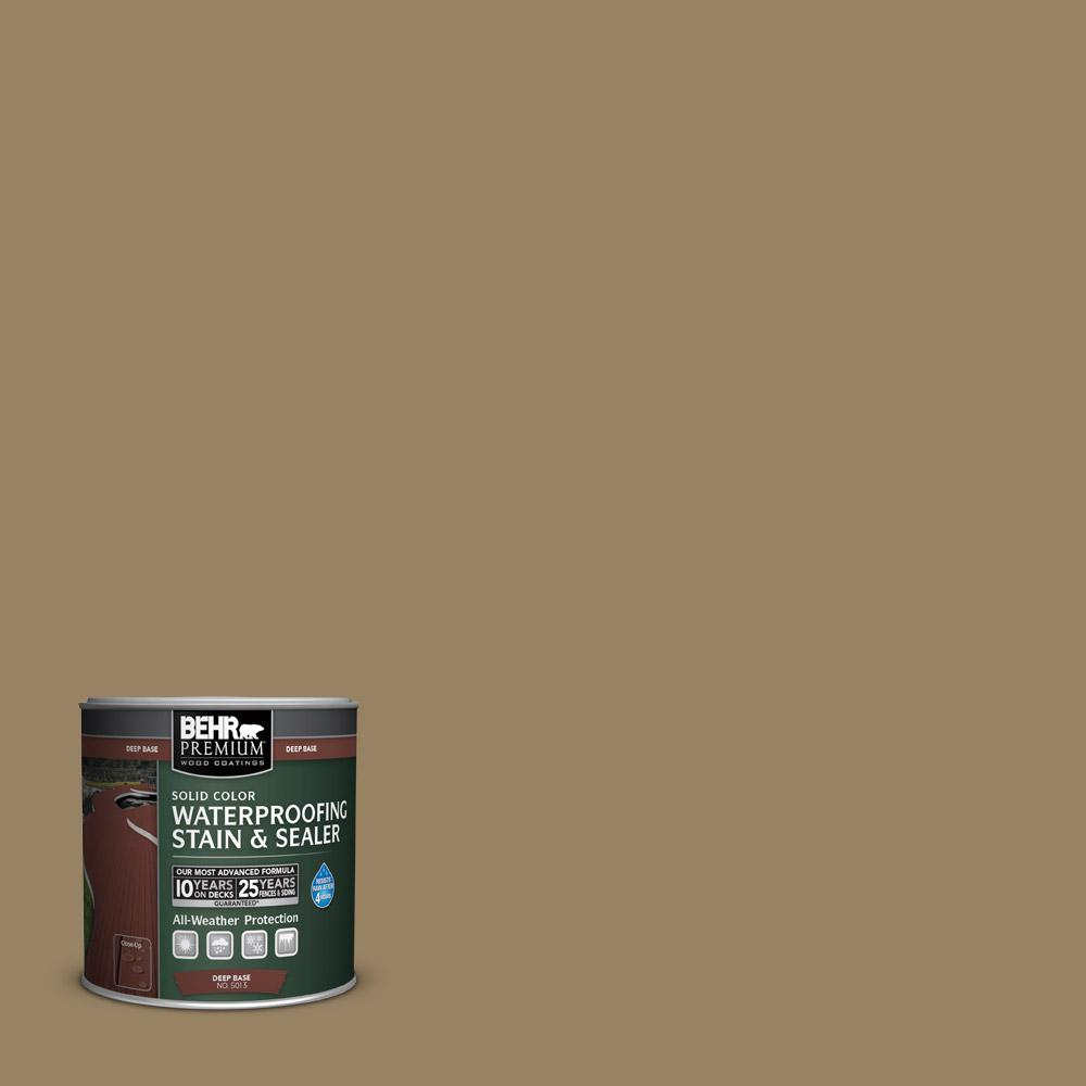 BEHR Premium 8 oz. #SC121 Sandal Solid Color Waterproofing Stain and Sealer Sample