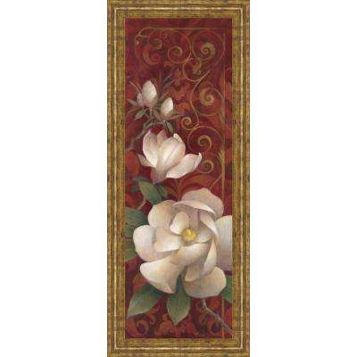 """18 in. x 42 in. """"Magnolia Melody II"""" by Elaine Valherbst-Lane Framed Printed Wall Art"""