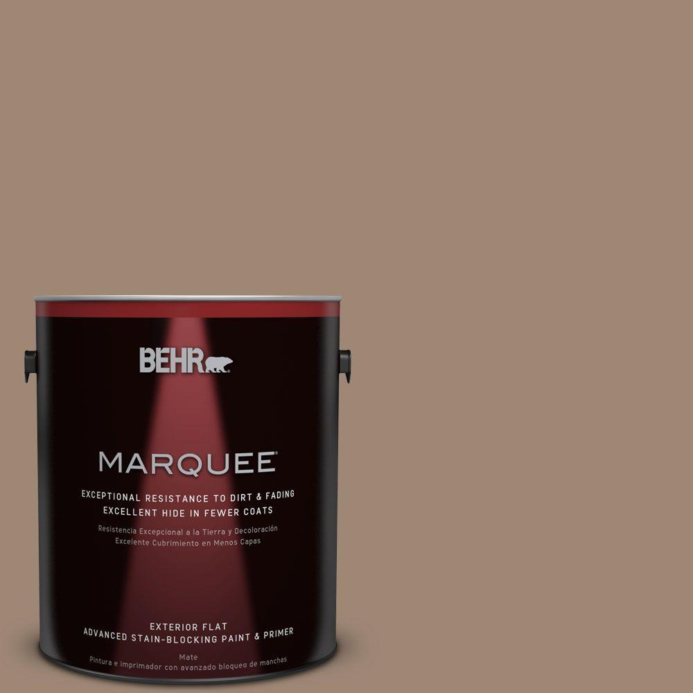 Behr Exterior Paint Home Depot behr marquee 1gal. qe22 terrazzo brown flat exterior paint