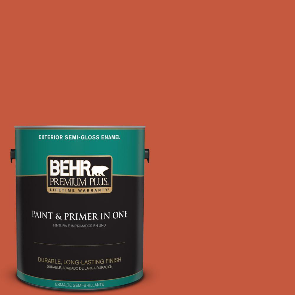 1-gal. #BIC-31 Fire Coral Semi-Gloss Enamel Exterior Paint