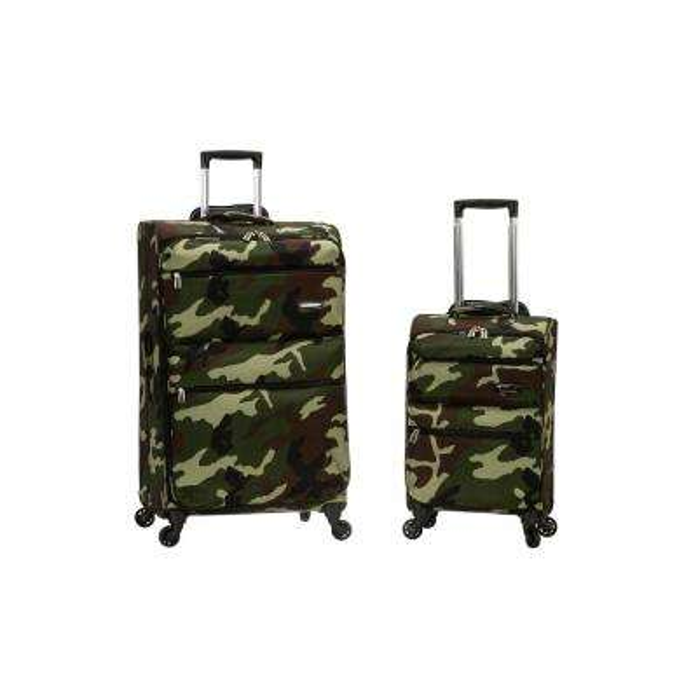 Gravity 2-Piece Light Weight Softside Luggage Set, Camo