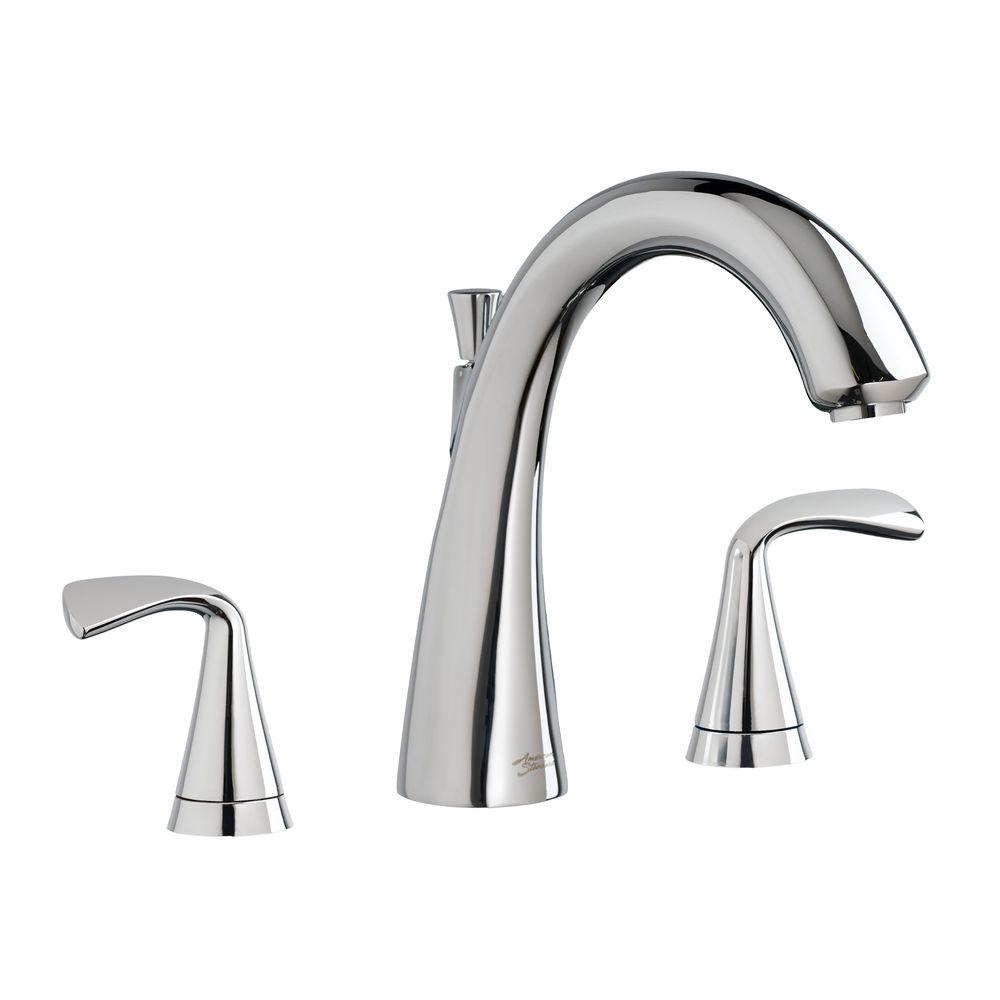 Fluent 2-Handle Deck-Mount Roman Tub Faucet in Polished Chrome (Valve Sold