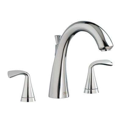 Fluent 2-Handle Deck-Mount Roman Tub Faucet in Polished Chrome (Valve Sold Separately)