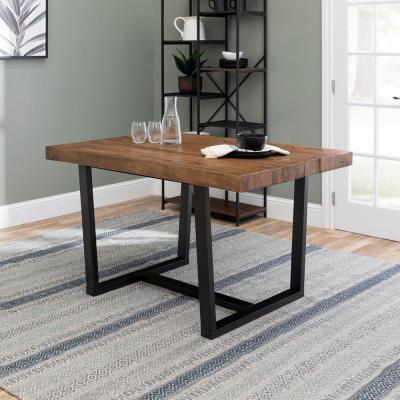 52 in. Reclaimed Barnwood Distressed Solid Wood Dining Table