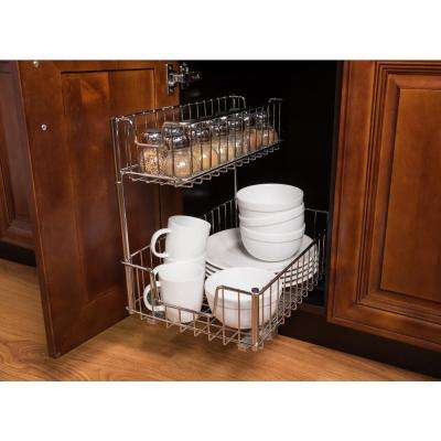2-Compartment Sliding Wire Undersink Organizer (2-Pack)