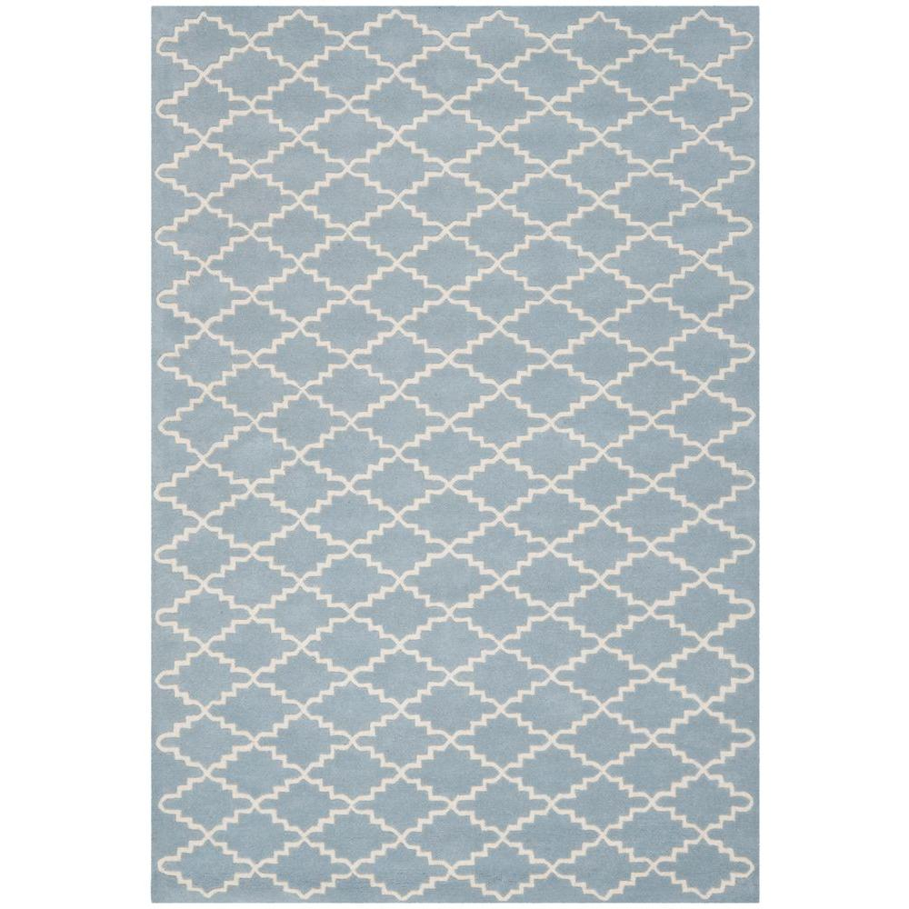 Chatham Blue/Ivory 5 ft. x 8 ft. Area Rug