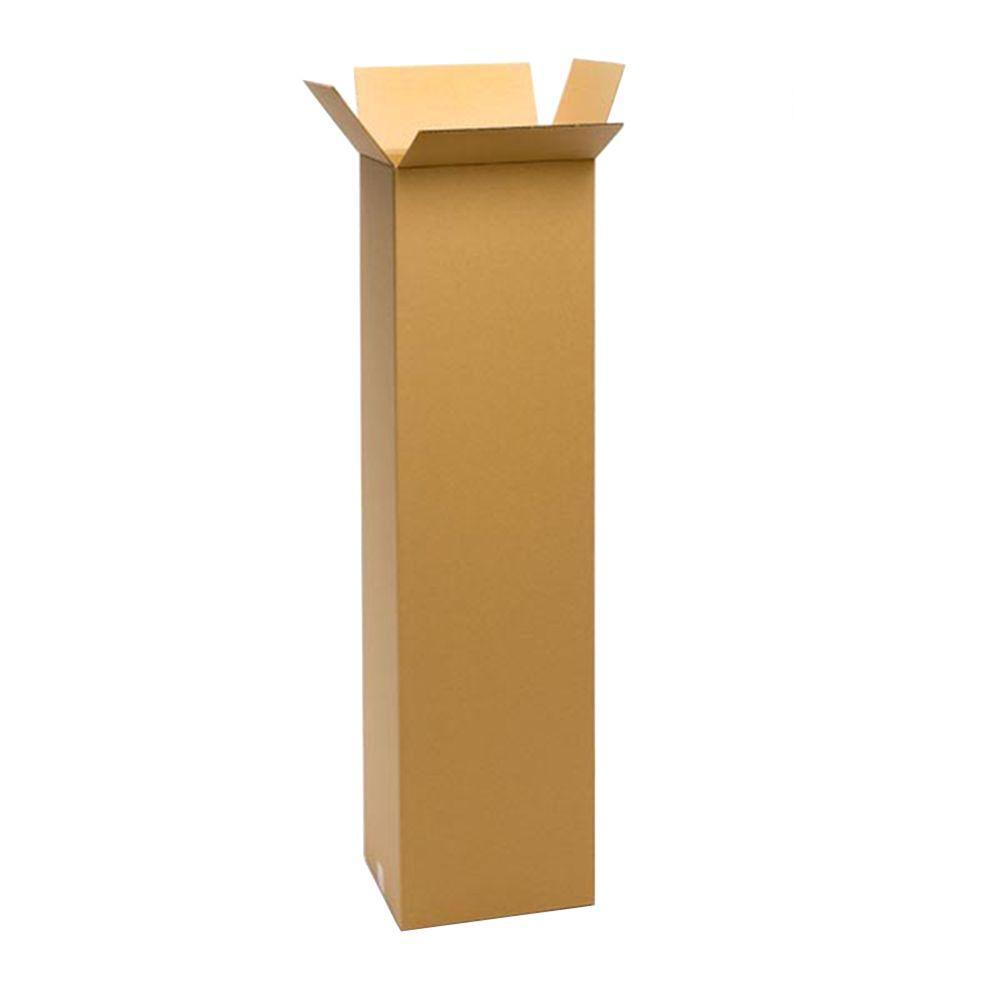 Pratt Retail Specialties 12 in. L x 12 in. W x 48 in. D Moving Box (15-Pack)