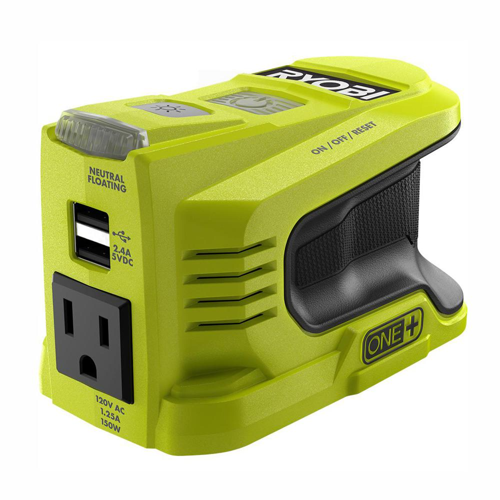 RYOBI 150-Watt Powered Inverter for ONE+ 18-Volt Battery