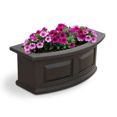 2 ft. Nantucket Polyethylene Window Box in Espresso