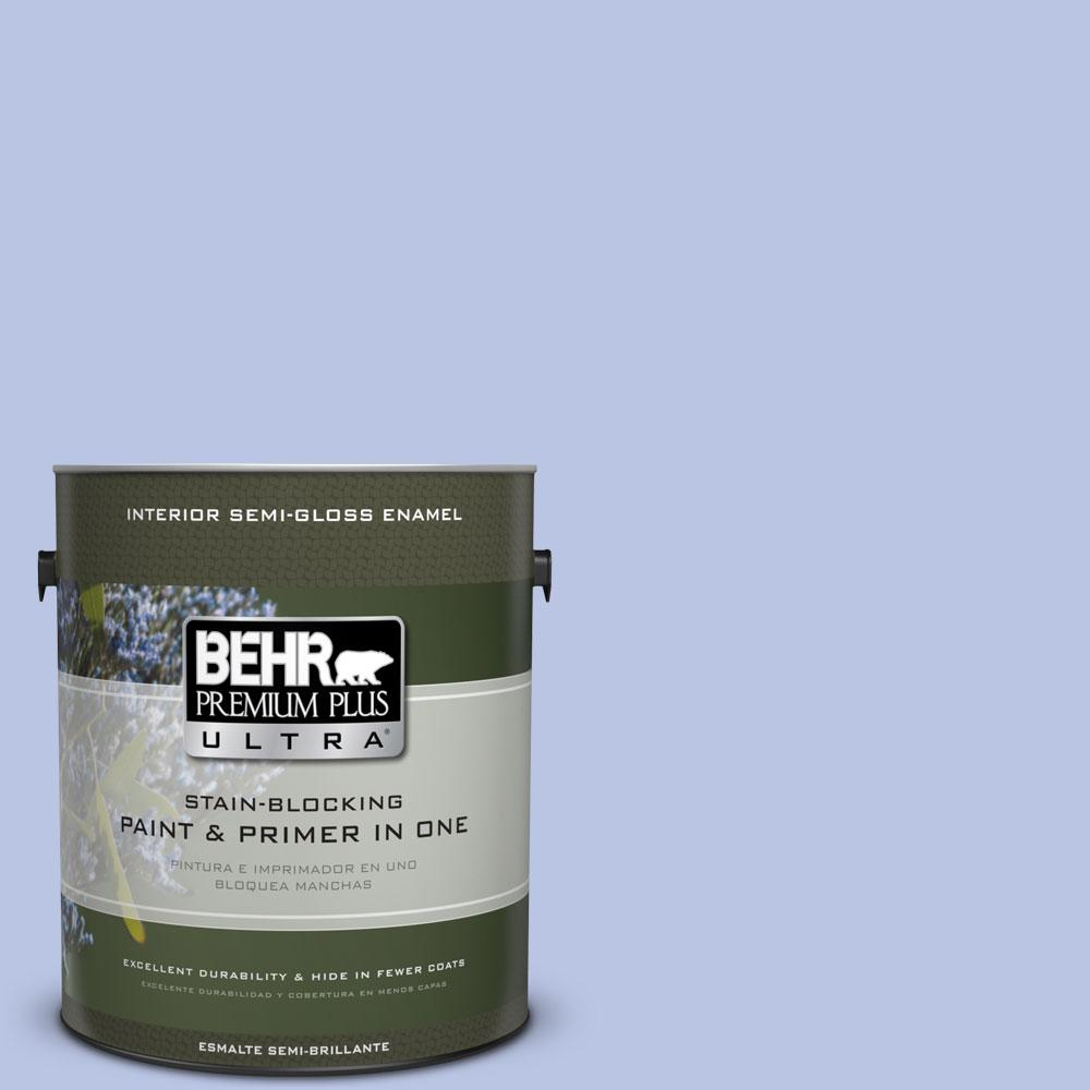 1-gal. #600A-3 California Lilac Semi-Gloss Enamel Interior Paint