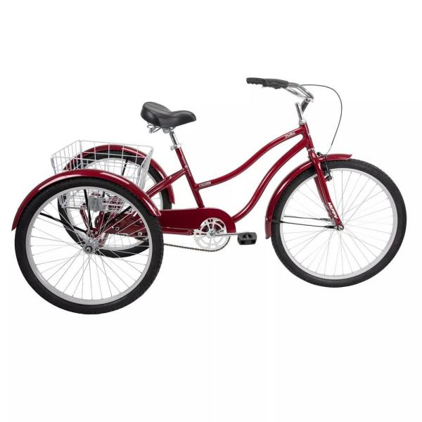 Pavillion 26 in. Adult Unisex Tricycle in Red