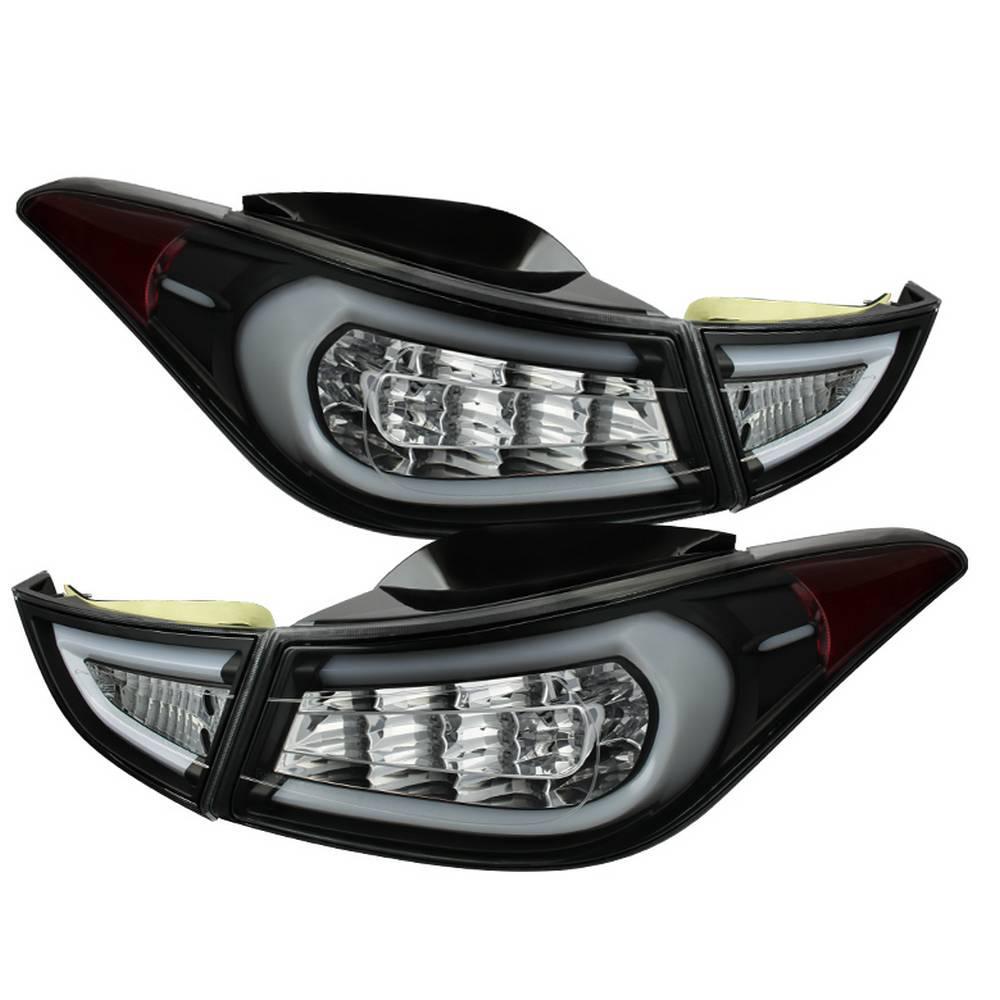 Hyundai Elantra 11 13 Light Bar Led Tail Lights Black