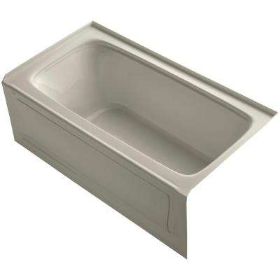 Bancroft 5 ft. Acrylic Right Drain Rectangular Farmhouse Apron-Front Non-Whirlpool Bathtub in Sandbar