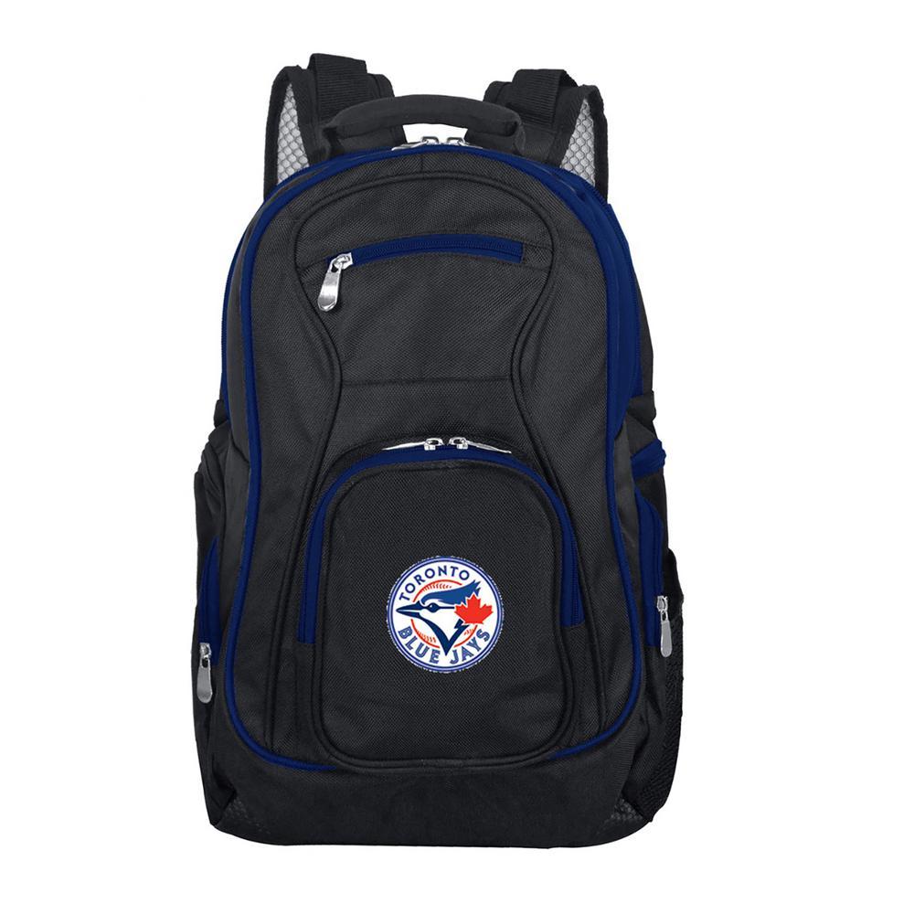MLB Toronto Blue Jays 19 in. Black Trim Color Laptop Backpack