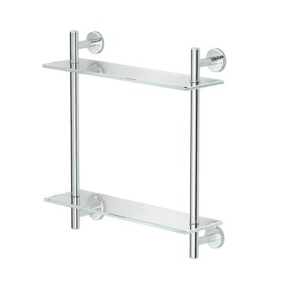 Latitude II 17 in. W 2-Tier Glass Shelf in Chrome