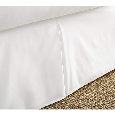 14 in. White Solid Queen Bed Skirt
