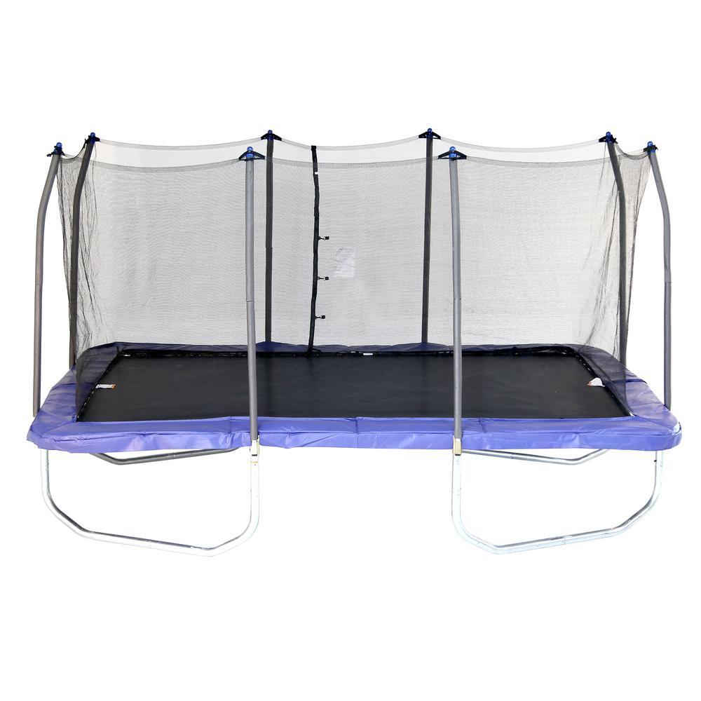 Skywalker Trampolines 15 ft. Rectangle Trampoline w/ Enclosure in Blue