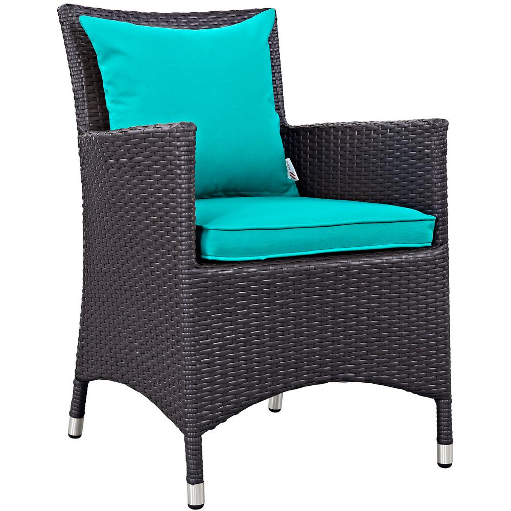 Modway Convene Wicker Outdoor Patio Dining Chair In