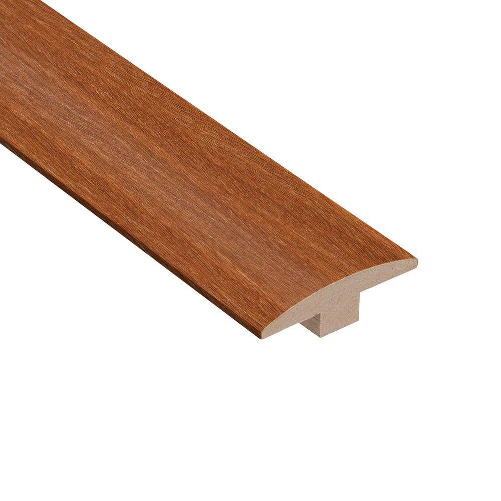 Matte Light Cumaru 3/8 in. Thick x 2 in. Wide x 78 in. Length Hardwood T-Molding