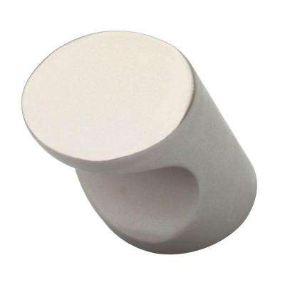Urban Metals 3/5 in. (16mm) Matte Nickel Cylindar Cabinet Knob
