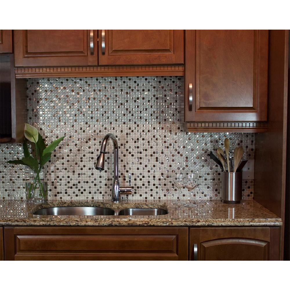 Smart tiles minimo cantera in w x in h peel - Decorative tile for backsplash in kitchens ...