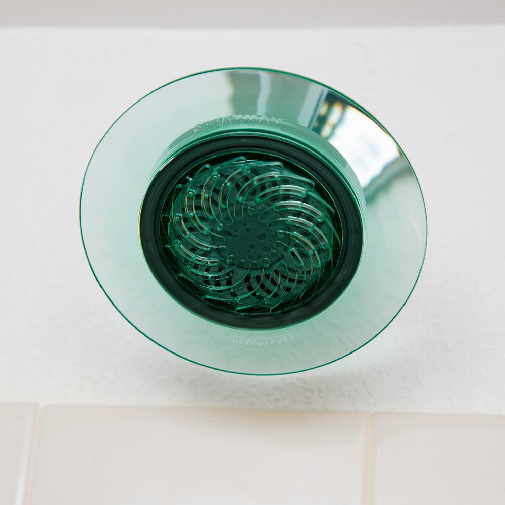 1-Spray 5.5 in. Single Wall Mount Fixed Shower Head in Jade