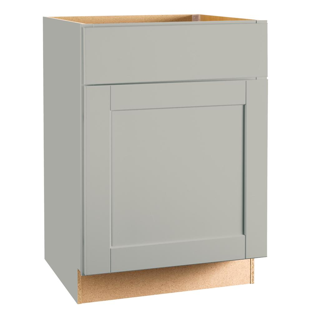 Hampton Bay Shaker Assembled 24x34.5x24 In. Base Kitchen