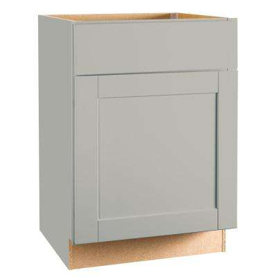 Shaker Assembled 24x34.5x24 in. Base Kitchen Cabinet with Ball-Bearing Drawer Glides in Dove Gray