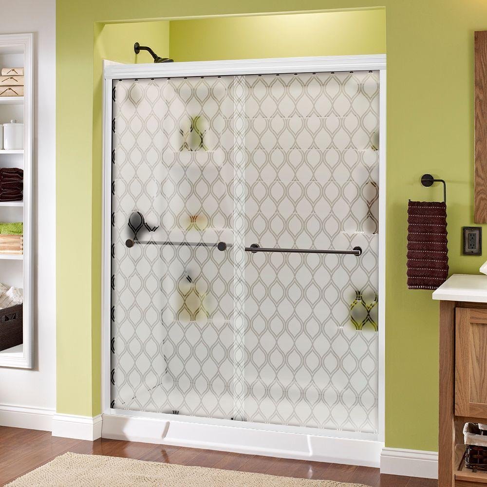 Delta Lyndall 60 in. x 70 in. Semi-Frameless Sliding Shower Door in & Delta Lyndall 60 in. x 70 in. Semi-Frameless Sliding Shower Door in ...