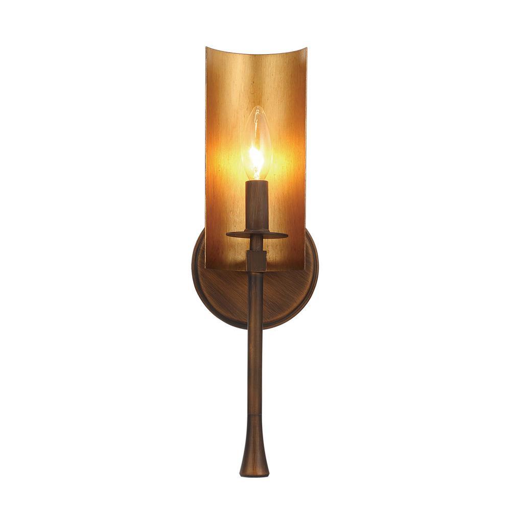 Maxim Lighting Candella 5 In Wide Chestnut Bronze Gold Sconce