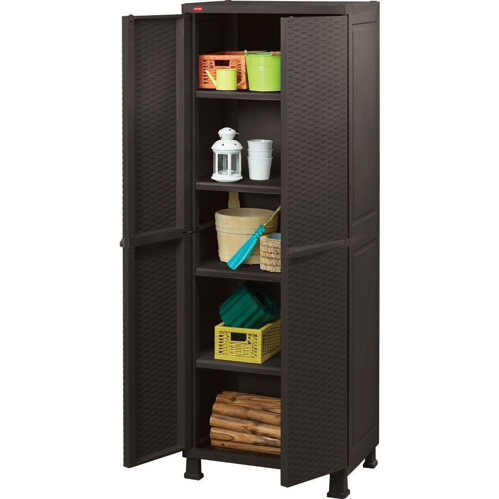 Plastic Rattan Cabinet 215658