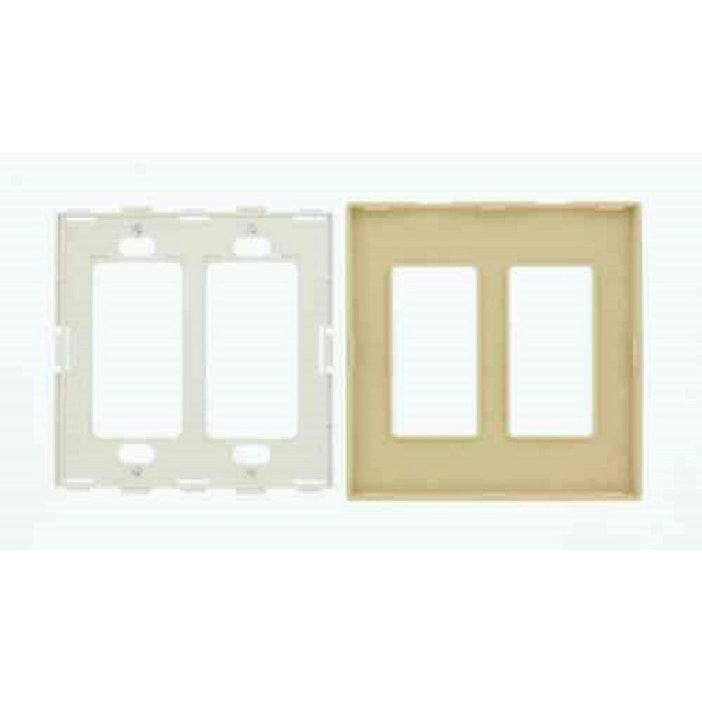 Leviton Ivory 2 Gang Decorator Rocker Wall Plate 1 Pack 80309 Si The Home Depot