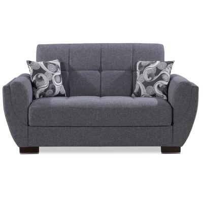 Armada Air 70 in. Gray Chenille 2-Seater Convertible Loveseat with Storage