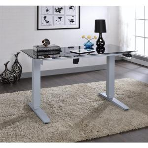 Acme Furniture Bliss Power Lift Desk in Black Glass by Acme Furniture