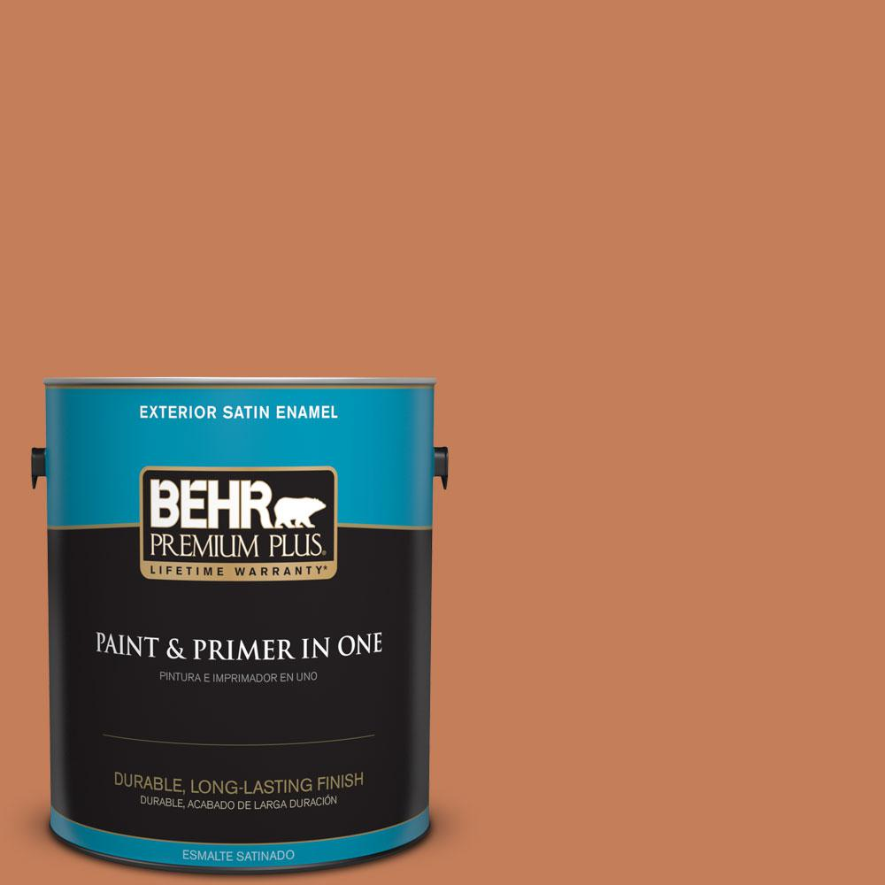1-gal. #M210-6 Orange Liqueur Satin Enamel Exterior Paint