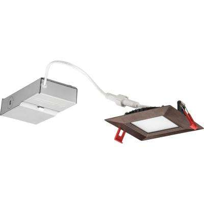 Wafer Square 4 in. Oil-Rubbed Bronze Integrated LED Recessed Kit