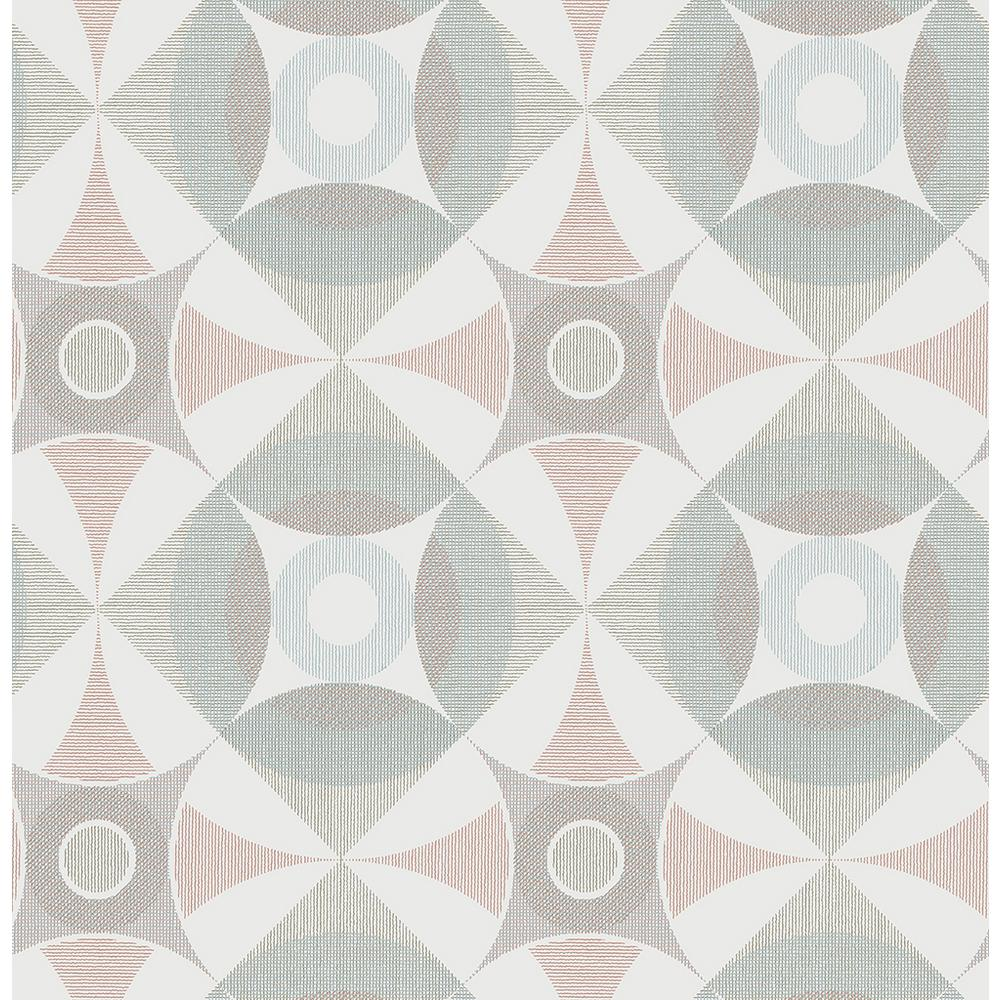 A Street 564 Sq Ft Ellis Multicolor Geometric Wallpaper 2821