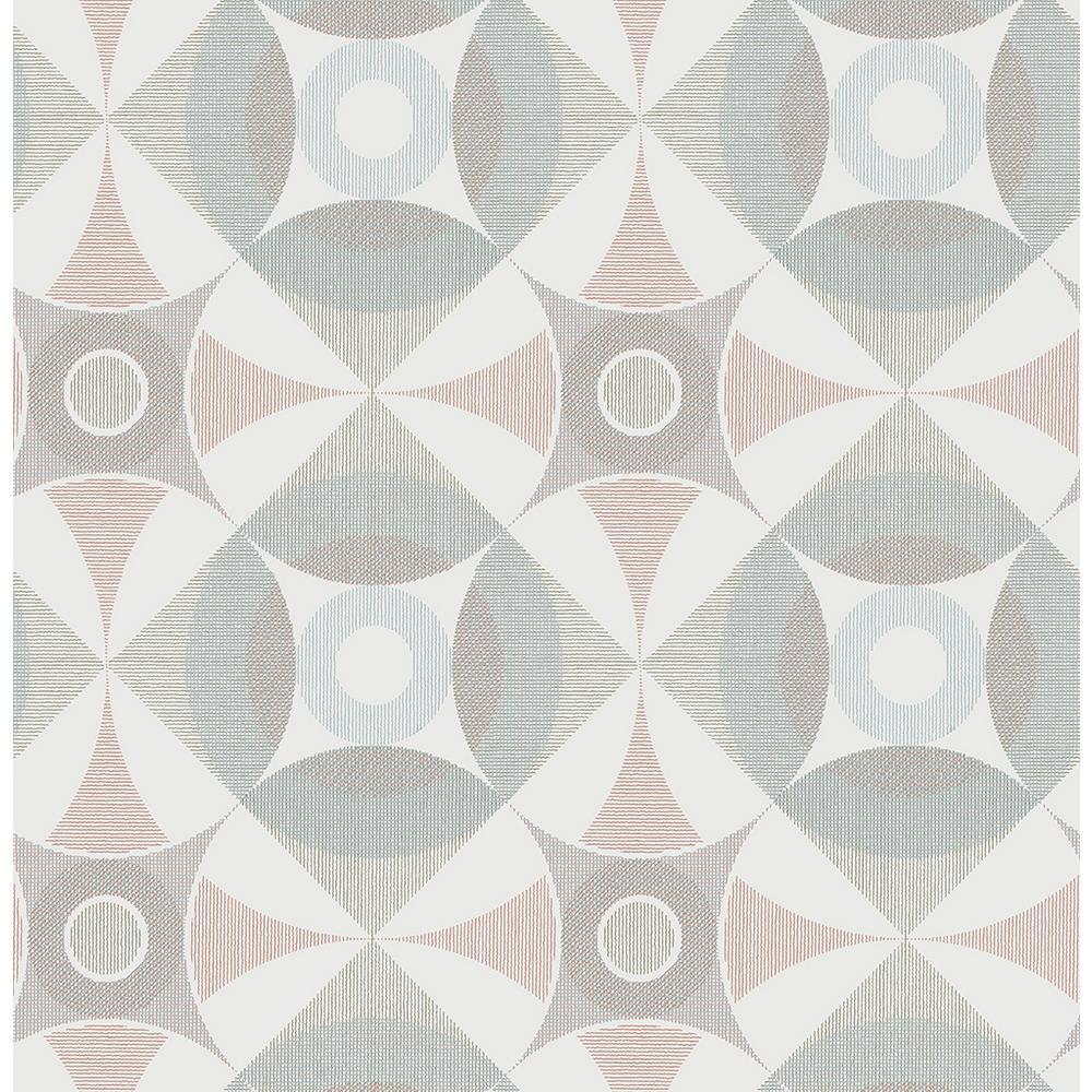A-Street 8 in. x 10 in. Ellis Multicolor Geometric Wallpaper Sample