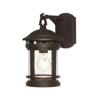 Sedona 1-Light Oil-Rubbed Bronze Outdoor Wall Mount Lantern