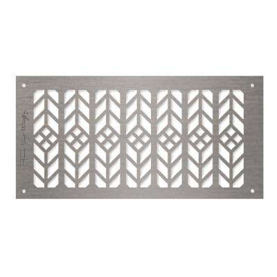 Frank Lloyd Wright Collection Floral Grille 6 in. x 14 in. Aluminum Brushed Satin