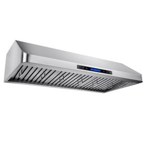 48 In. Kitchen Dual Motor Under Cabinet Range Hood In Stainless Steel With  Remote And