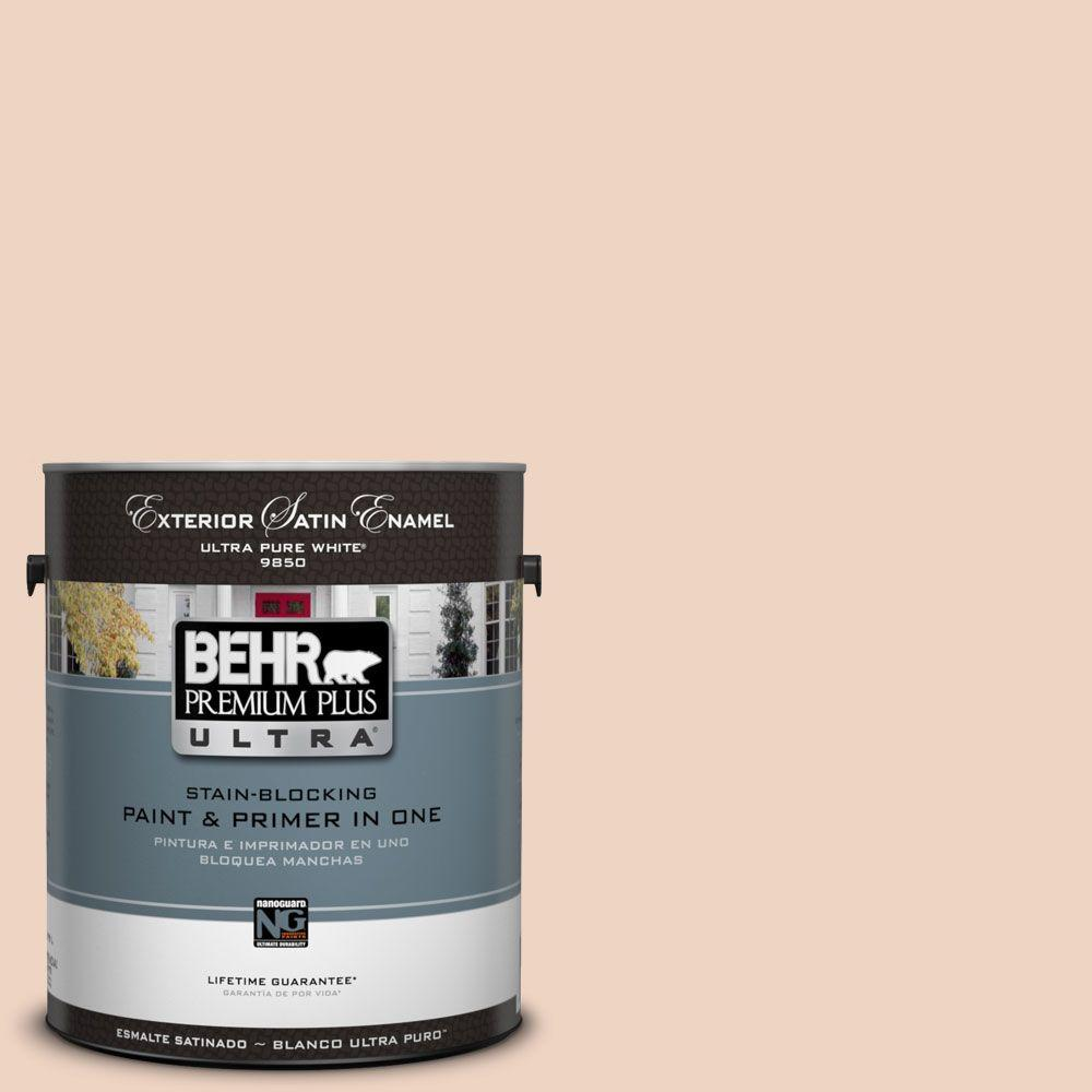 BEHR Premium Plus Ultra 1-Gal. #UL130-11 Iced Apricot Satin Enamel Exterior Paint