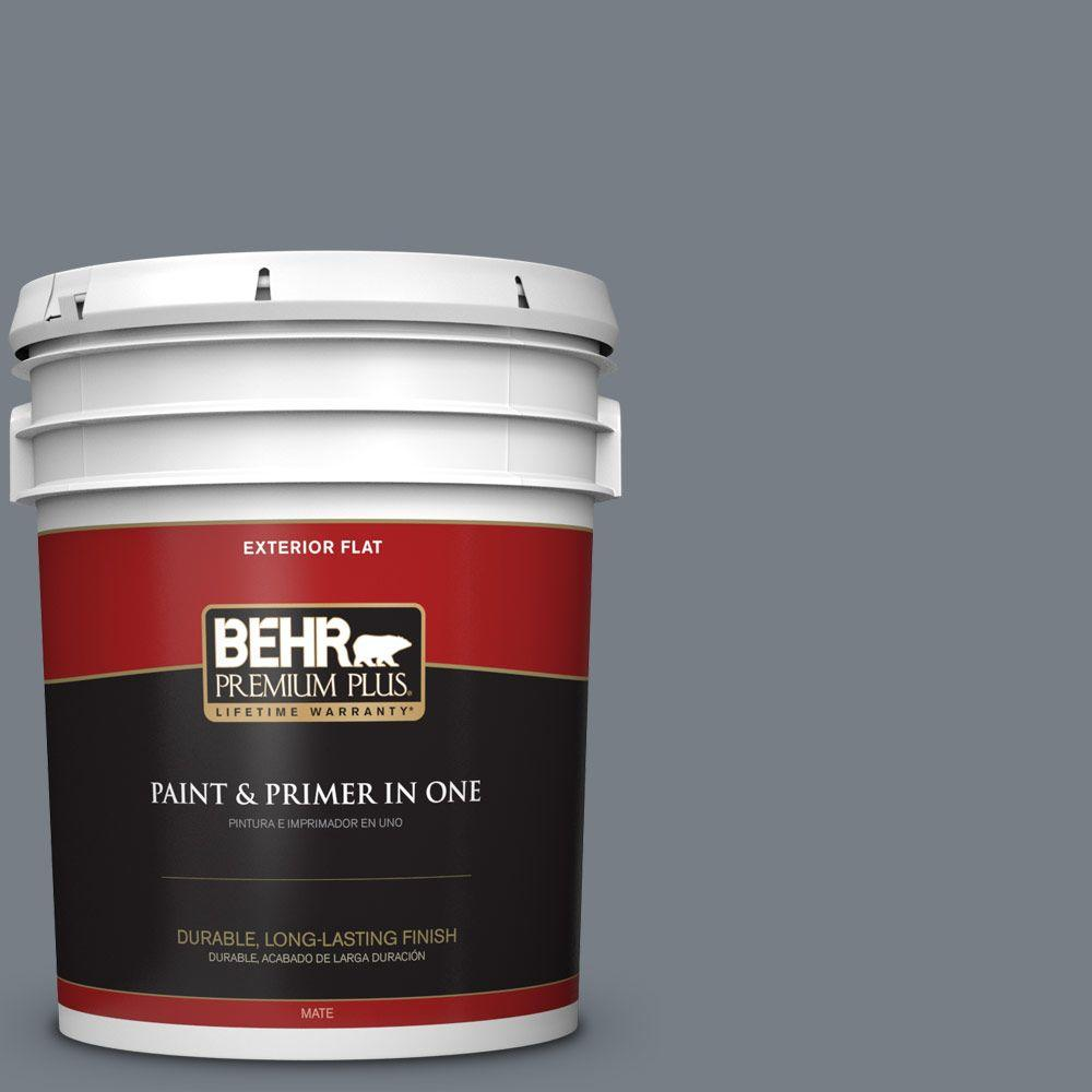 BEHR Premium Plus 5-gal. #BNC-39 Peak Point Flat Exterior Paint